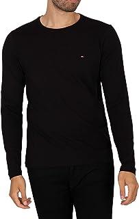 Tommy Hilfiger - Heren T-shirts met lange mouwen - Heren T-Shirts - Tommy Hilfiger Heren T-shirts - Stretch Slim Fit T-shi...