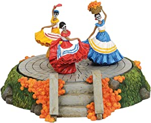 Department 56 Snow Village Halloween Accessories Day of The Dead Festive Dance Animated Figurine, 4.72 inch, Multicolor