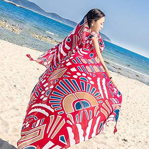 Strand Strand Urlaub Seide Schal Frauen Sommer Sonne Schatten Schal Schal Mit Stilvollen Strand Wickeln Pro