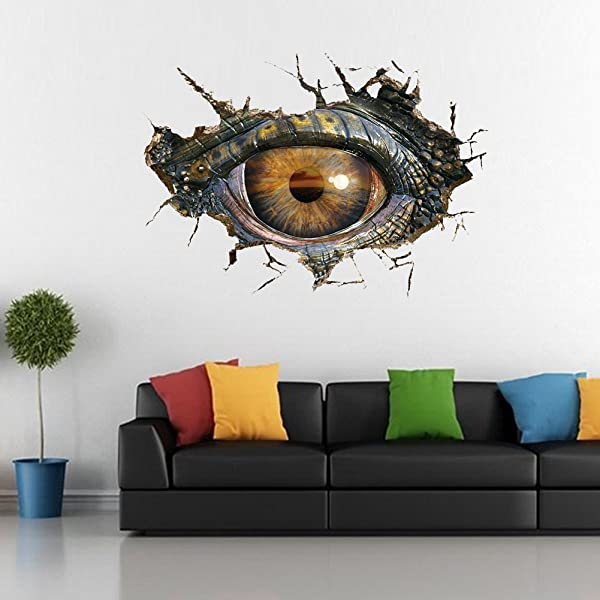 Home Decor Wall Stickers Dinosaur Eye Removable Room Decor Wall Decal For Kids Boys Girls 19 6 X 27 5 Inch