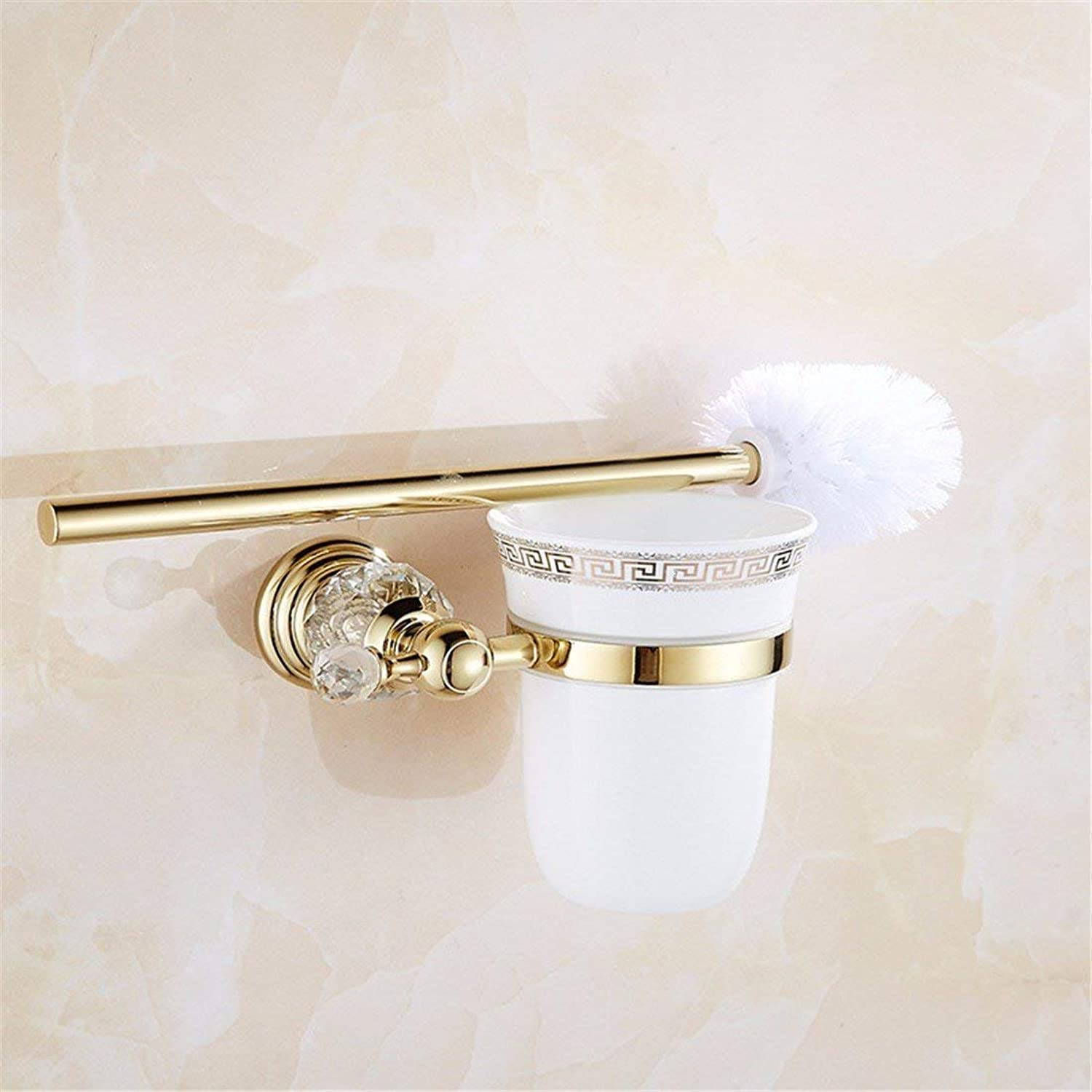 Christmas in Stainless Steel of European Style, Base in Crystal of gold, All Baths Pendentif, Single and Double Door Bar Toothbrush, WC Brush