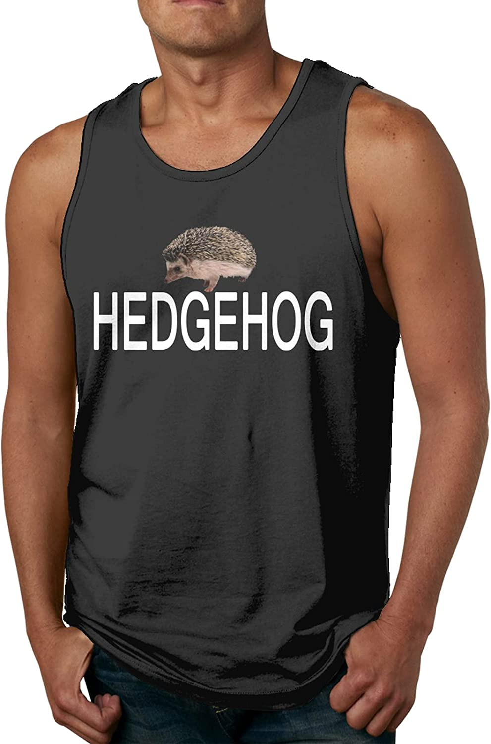 Hedgehog Mens Slimming Compression Muscle Sleeveless Cheap mail order shopping Cheap SALE Start Casual Tank