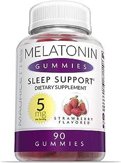 Melatonin Gummies for Kids and Adults Chewable Sleep Aid - 5mg Melatonin Per Serving - 90 Strawberry Gummy Vitamins (Packa...