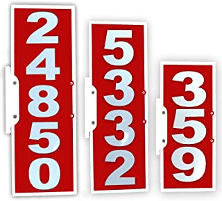CIT Group Mailbox Address Plaque, Red Vertical, Reflective 911 Plate, Mailbox Topper. Most Visible Mailbox Address Marker on The Market!