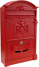 PrimeMatik - Oude metalen mailbox voor brieven en rode post