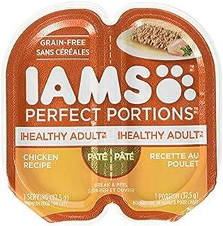 IAMS Healthy Adult Grain Free Wet Cat Food, Chicken Pate, 2.6 oz. ( 5 Twin Packs)