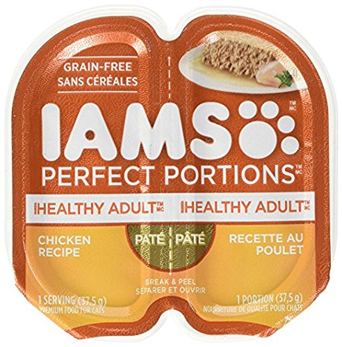Price comparison product image Iams Iams Perfect Portions Grain Free Adult Wet Cat Food Pate Chicken Recipe,  2.6 Oz. Twin Pack Tray,  2.6 Oz