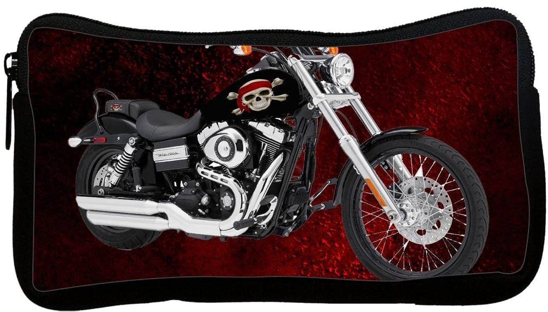 Rikki Knight Harley Davidson Pirate Skull Design Neoprene Pencil Case (pc1076)