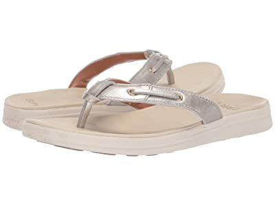 Sperry Adriatic Thong Skip Lace Leather (Platinum) Women