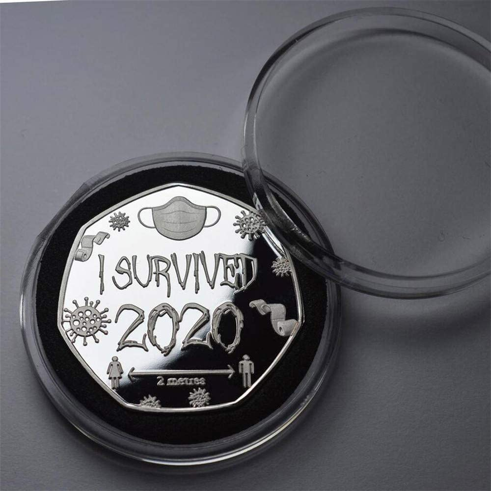Celebrate Surviving This Stupid Fuckin Pandemic /& These Crazy Fuckin Times Style A, Golden 2pcs Coins for Collectors,I Survived 2020 999 Silver Commemoratives,Fuck Covid-19! Boxed 30g Celebrate