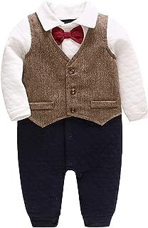Bebone Baby Jungen Strampler Taufe Hochzeit Babykleidung Langarm Anzug