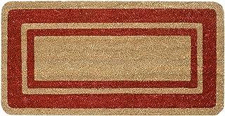 Emmevi - Cocco Bordo - Paillasson en fibre de coco naturelle avec envers antidérapant, tapis, grattoir pour extérieur, por...
