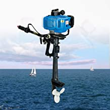 Outboard Motor, 2 Stroke 3.5HP Heavy Duty Outboard Motor 2.5KW Inflatable Fishing Boat Engine with Air Cooling CDI System (US Stock)
