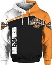 Uniseks 3D digitaal International Harley Davidson Logo Print Sweatshirt Casual Sweatshirt