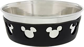 Disney Parks Mickey Mouse Icon Silicone on Metal Dog Cat Pet Dish Medium