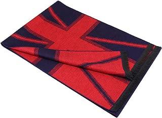 Gnzoe Scarf Winter Warm, Cozy Soft Cotton US UK Flag Scarf for Men Women - 72 x 12 inch