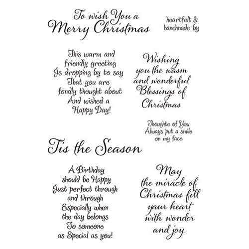 Christmas Card Sayings.Christmas Sentiments Stamps Amazon Com