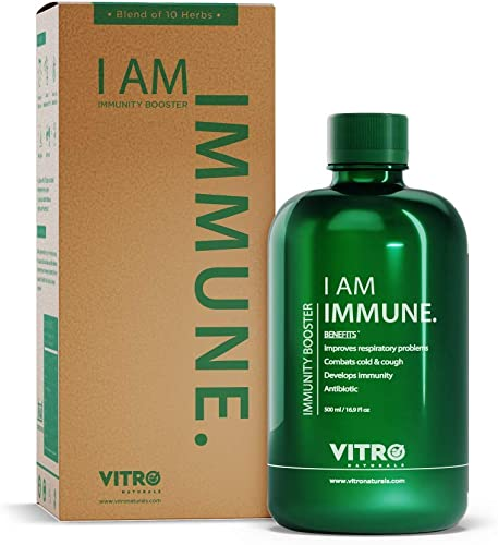 Vitro immunity booster Juice No added sugar Giloy Tulsi Juice I AM IMMUNE 500ml Natural Immune Booster Formula FREE Amla candy inside
