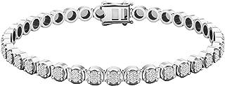 Dazzlingrock Collection 1.00 Carat (ctw) 10K Gold Round White Diamond Ladies Tennis Bracelet 1 CT