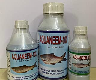 AQUANEEM 10x Stablised Iodine Fish Disease Control in Tanks Ponds Aqua Sanitizer BioFloc (250)