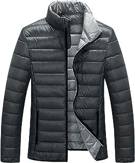 ZSHOW Men's Down Jacket Packable Stand Collar Down Outerwear Coat