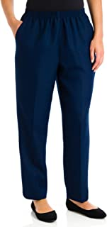 Alfred Dunner Plus Size Basic Polyester Pull-On Pants 09200 Navy