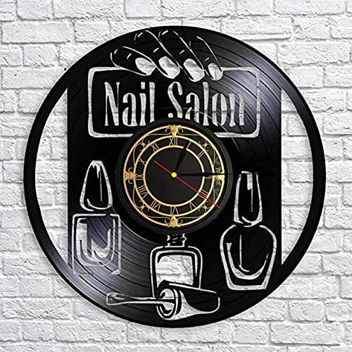 SHILLPS Llantas De Auto Led Reloj De Pared Vintage Diseño Moderno Reloj De Vinilo Colgante Reloj De Pared Reloj Único 12' Idea De Regalo Creativo