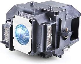 Huaute V13h010l58 / Elplp58 Lámpara de Repuesto para proyector con Carcasa para Epson EX3200 EX5200 EX7200 PowerLite 1220 1260 S9 X9 S10 + VS200 EB-S10 EB-S9 EB-S92 EB-W10 EB-W9 EB-W9 EB-X10 EB-X9