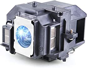 Huaute V13h010l58 / Elplp58 Replacement Projector Lamp with Housing for Epson EX3200 EX5200 EX7200 PowerLite 1220 1260 S9 X9 S10+ VS200 EB-S10 EB-S9 EB-S92 EB-W10 EB-W9 EB-X10 EB-X9 EB-X92