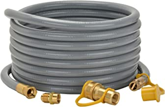 """only fire 24 Ft 1/2"""" ID Natural Gas Hose with Quick Disconnect for Fire Pit, Patio Heater or Grill - Include 3/8"""" Female x..."""