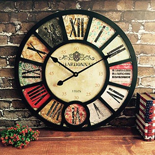 orologio da parete industrial HYLR 38cmliving Orologio da Parete della Stanza Retro Stile Industriale Ristorante Creativo Bar caffè Decorazione Decorazione a Parete Orologi e Orologi