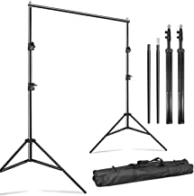 Julius Studio 10 Feet Wide Photography Photo Muslin Background Support Stand Backdrop Crossbar Kit, Backdrop Support Stand with Carry Bag, JSAG576