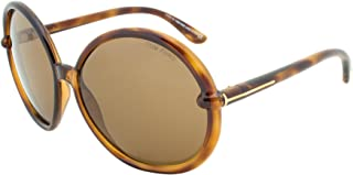 Tom Ford Caithlyn Sunglasses TF167 55J Brown Translucent Frame, Brown Lens