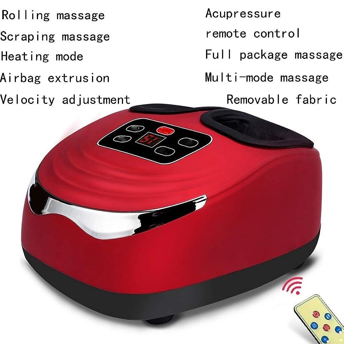 豊富に沿って粘り強い足マッサージャーふくらはぎソールポイントホーム高齢者自動足混練マッサージ電動足マッサージ機 (Color : Red)