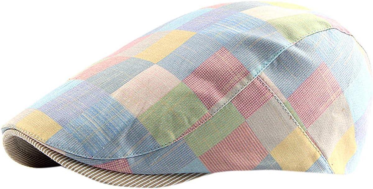 HIUHIU Unisex Cotton Flat Cap Beret Casual and Dress Style Beret Outdoor Sun hat Sun hat Unisex