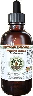 White Sage Alcohol-FREE Liquid Extract, White Sage (Salvia Apiana) Leaf Glycerite Natural Herbal Supplement, Hawaii Pharm, USA 2 fl.oz