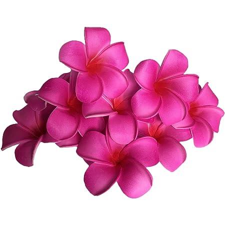 Frangipani Flower Fake Plumeria Photography Hair Decor Artifical #LAC
