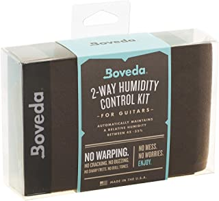 Boveda Starter Kit, 49% RH, Patented 2-Way Humidity Control, Guitars and Wood Instruments, (4) 70-Gram Boveda, (2) Leak-Resistant Fabric Holders, Protects Instruments Against Cracking and Warping
