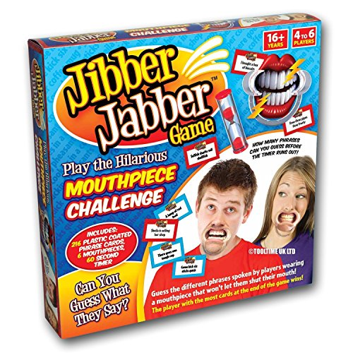 Jibber Jabber Party Spiel Sprechen Out Game Challenge - UK Edition - Enthält Hilarious Mundstück