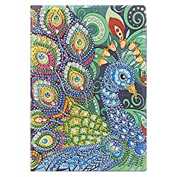 Peacock Rarembellish Shaped Diamond Painting Drawing Notebook