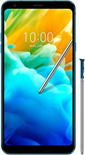 """LG Q Stylus Alpha (32GB) Dual SIM 6.2"""" FHD+ Display, 4G LTE GSM Factory Unlocked Phone with IP68 Water Resistant Q710HSW (Blue)"""