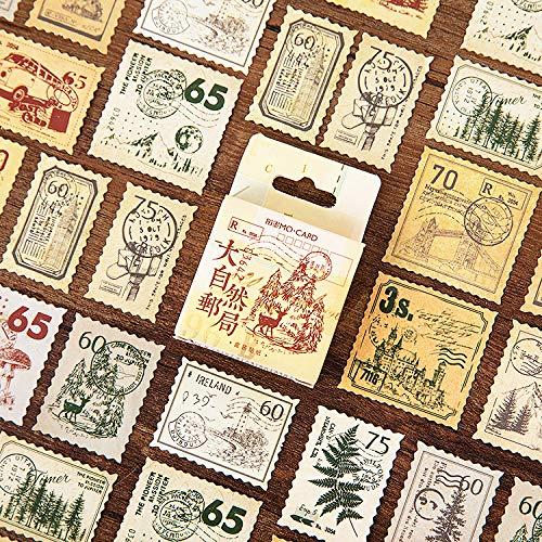 Natuur post kantoor Serie Stempel Label Stickers Dagboek Mini doos Stempel Stickers set Scrapbooking Leuke Flakes Journal briefpapier