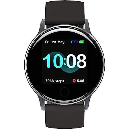 Smartwatch Orologio Uomo, UMIDIGI Uwatch 2S Smart Watch Fitness Tracker Uomo Donna Impermeabile 5ATM Cardiofrequenzimetro da Polso Contapassi Sportivo Activity Tracker per Android iOS - Space Grey