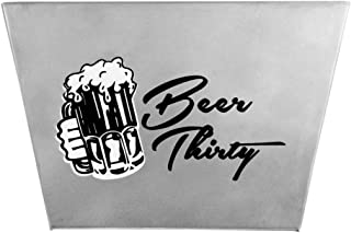 Barware Gear: Wall Mounted Bottle Cap Stainless Steel Catcher Beer Thirty with Free SS Mounting Screws. Modern, Classic, Durable Design