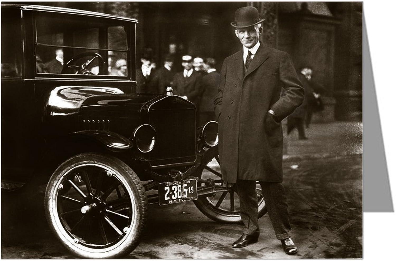 Einzel Henry Henry Henry Ford vor einem Modell T Motor Car Grußkarte B006HAJ5N0 | Kaufen Sie beruhigt und glücklich spielen  67c69d