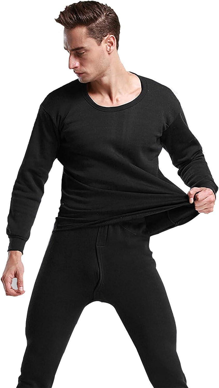 MEIFXIH Men's Thermal Underwear Set Lightweight Warm Long Johns for Men