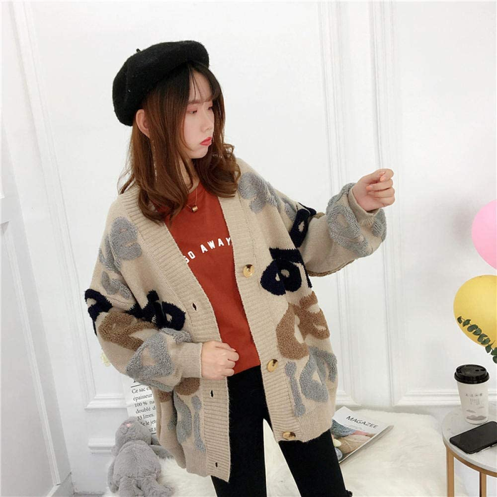 LIYDENG Women's Max 63% OFF Clothing Autumn New Letter Kore Cardigan mart Knitted