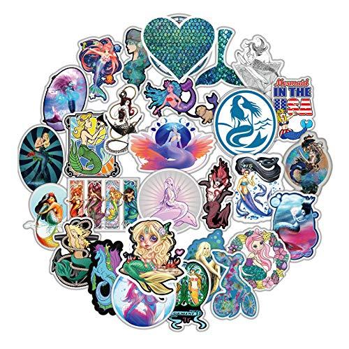 Cartoon Zeemeermin Stickers Voor Bagage Skateboard Motorfiets Stickers Waterdichte Schoonheid Gift Applique Voor Fid Sickers50 Stks/pak