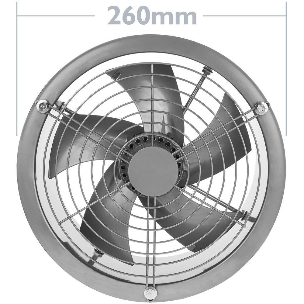 PrimeMatik - Extractor de Aire de Tubo de 200 mm para ventilación Industrial 2550 RPM Redondo 260x260x180 mm Plateado: Amazon.es: Electrónica