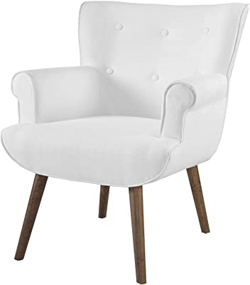 Amazon Com America Luxury Chairs Modern Contemporary Urban Design Living Room Lounge Club Lobby Armchair Accent Chair Fabric White Furniture Decor